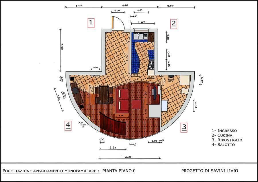 Progetto Arredo 3 Interni Pianta B